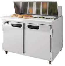 48 inch sandwich prep table used 48 leader bain marie sandwich prep table cooler self contained