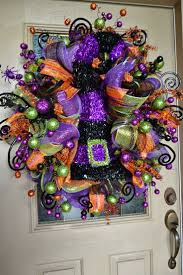 Halloween Wreath Ideas Front Door 54 Best Deco Mesh Wreaths Images On Pinterest Deco Mesh Wreaths