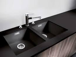 black countertop with black sink inset sink inset sink black kitchen white wall with countertop