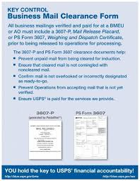 Postalone Help Desk Business Mail Clearance Form