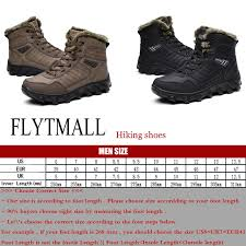 s winter hiking boots size 12 winter plus warm hiking shoes waterproof rubber outsole