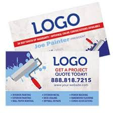 Business Cards Painting Painting Contractor Print Designs Free Shipping U2013 Footbridge
