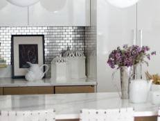 Stainless Steel Kitchen Backsplashes HGTV - Custom stainless steel backsplash