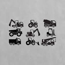 construction wall art decal pack for kids by vinyl revolution