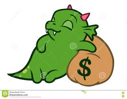 cute dragon cartoon sleeping stock vector image 39147930