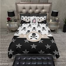 skull bedding queen size skull bedding sets for size of queen bed