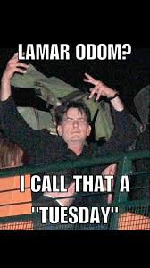 Charlie Sheen Memes - charlie sheen on twitter lamar odom i call that a tuesday