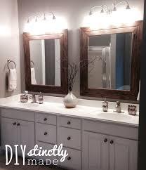 diy bathroom mirror frame diy bathroom mirror frame ideas