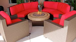 Gas Firepit Tables Furniture Beautiful Curved Sectional Sofa With Gas Pit