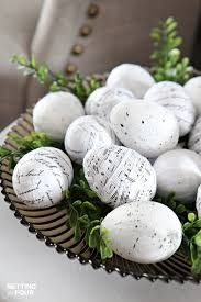 easter decorating ideas with easter eggs setting for four