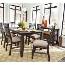 dresbar dining room table signature design dining tables dresbar d485 25 rectangular from