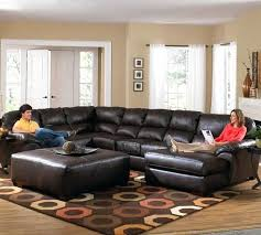 Small Leather Sofa With Chaise Leather Sectional Sofas With Chaise S Homelegance Black Leather
