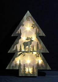 christmas tree light game wooden festival christmas tree shaped gift home decoration battery