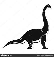 brachiosaurus dinosaur icon simple style u2014 stock vector