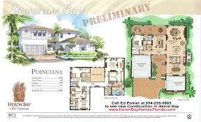 poinciana model floor plan for new construction in heron bay of