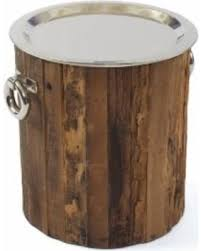silver barrel side table here s a great deal on wood barrel side table hip vintage branson