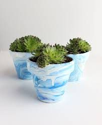 diy marbled terra cotta pots u2013 alana jones mann