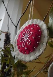 felt ornament handmade scandinavian by puffinpatchwork