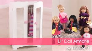 u0027s lil u0027 doll armoire toy review youtube