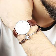 leather bracelet with anchor images Lisa angel watch with leather strap by lisa angel jpg