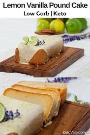 lemon vanilla pound cake low carb recipe ketovale