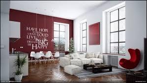 wohnzimmer farbgestaltung farbgestaltung wohnzimmer rot weiß wandtattoo parkett sessel