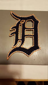 lets go detroit tigers old english d string art with tigers