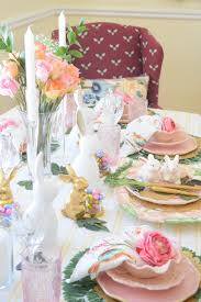 Pink And Gold Table Setting by Easter Table Setting French Country Home Decor Party Decor