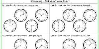 tick the correct time ks1 reasoning test practice classroom secrets