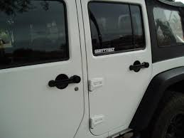 jeep wrangler white 4 door rugged ridge wrangler 5 piece door handle recess guard kit black
