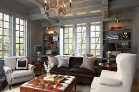 what goes with leather furniture
