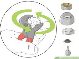 How To Fix A Water Faucet How To Fix A Leaky Faucet With Pictures Wikihow