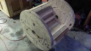 turning a cable spool into a rocking chair youtube
