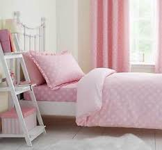 Curtain And Duvet Sets Girls Pink Floral Daisy Dreamer Duvet Cover Set Or Fitted Sheet Or