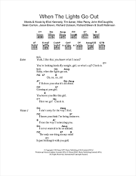 When The Lights Go On When The Lights Go Out Sheet Music By Five Lyrics U0026 Chords U2013 108736