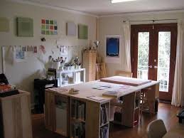 Oak Studio Desk by Art Studio Design Ideas For Small Spaces Workspace Oak