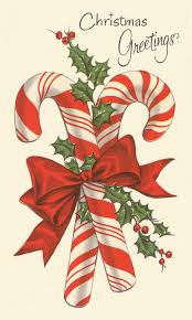 double candy canes christmas vintage