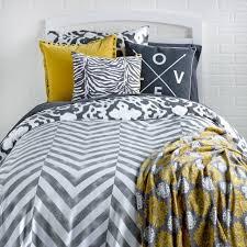 Yellow Grey And White Bedding Bedroom Grey And Yellow Chevron Bedding Medium Travertine