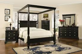 Inexpensive Queen Bedroom Set Bedroom Classic Black Queen Canopy Bedroom Set For Cheap With