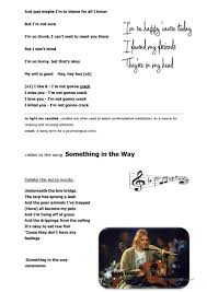 Wavin Flag Lyrics Teen Depression And Anxiety Kurt Cobain Worksheet Free Esl
