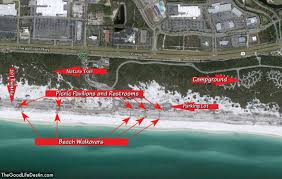 Map Of Florida State Parks by Find Your Perfect Beach In Destin Florida The Good Life Destin