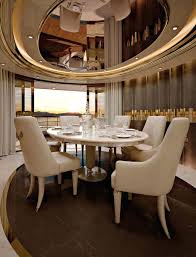 115 chic luxury white dining room design with luxury rectangle