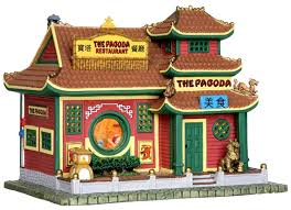 lemax halloween houses amazon com lemax 25373 pagoda restaurant lighted building