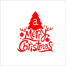 hot red art merry christmas wall stickers decals window display see larger image