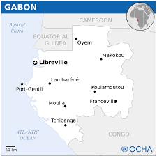 Gabon Map Gabon Map
