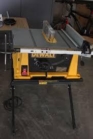 dewalt table saw folding stand dewalt compact table saw w folding stand new blades power tools