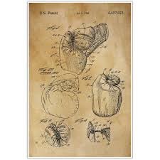 boxing gloves patent blueprint sports photo art u2013 paper blast