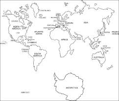 printable world map a1 black and white labeled world map printable geography pinterest