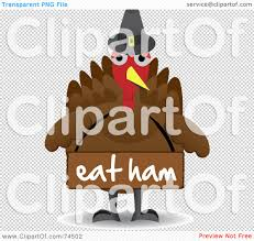 royalty free rf clipart illustration of a turkey bird wearing a