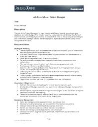 Assistant Manager Job Description Resume by Sample Resume Construction Project Manager Sample Resume 2017